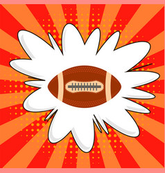 american football ball rugby sport icon sports vector image