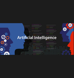 Artificial intelligence ai concept of technology vector