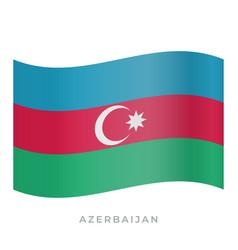 Azerbaijan waving flag icon vector