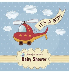 Baby shower invitation card It s a boy vector