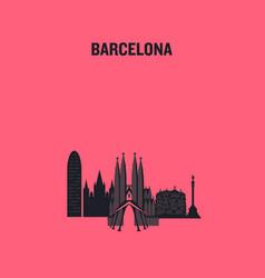 barcelona art design concept vector image
