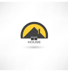 black simple house vector image