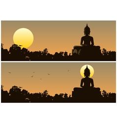 Buddha Sunset vector