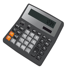 Calculator with screen vector