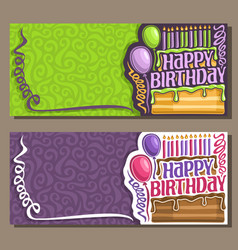 cards for happy birthday vector image