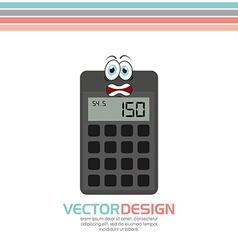 Character school supply design vector