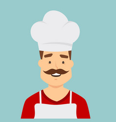 chef worker character isolated on background vector image