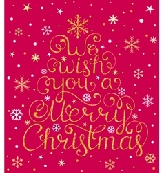 Christmas congratulation on white background vector