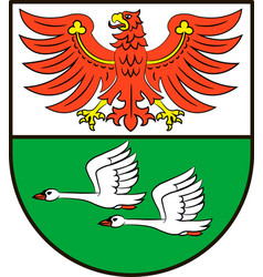 Coat of arms of oberhavel in brandenburg germany vector