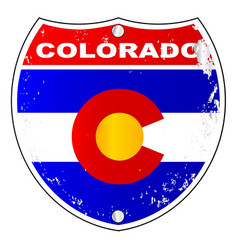 colorado interstate sign vector image