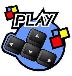 Computer game symbol vector image