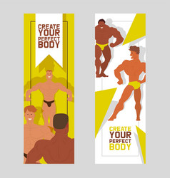 create your perfect body set banners vector image