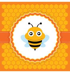Cute bee vector image