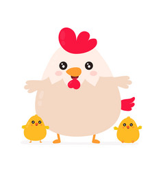 cute smiling happy funny cock vector image