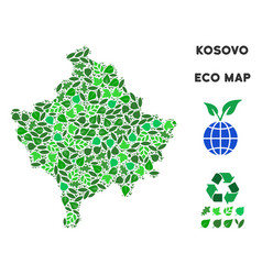 Eco green composition kosovo map vector