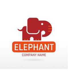 Elephant mammoth wild animal icon text lettering vector