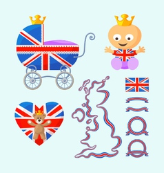 English Royal Baby Set vector image