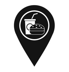 fast food and restaurant map pointer icon vector image