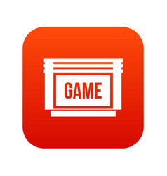 Game cartridge icon digital red vector