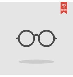 Glasses icon Flat design style vector