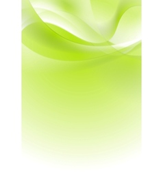 Green shiny wavy background design vector