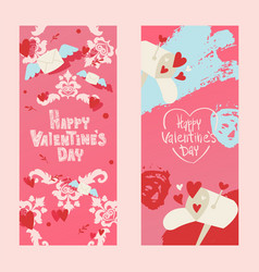 happy valentines day invintation card vector image