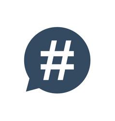hashtag icon in speech bubble vector image