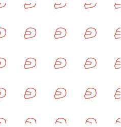 Helmet icon pattern seamless white background vector