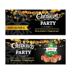 Invitation merry christmas party poster banner vector