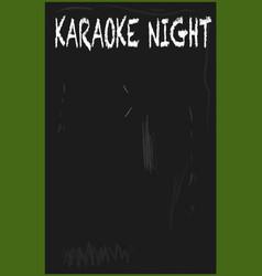 Karaoke blackboard vector