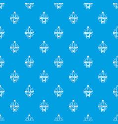 ketchup pattern seamless blue vector image