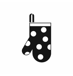 Kitchen glove icon simple style vector