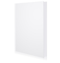 layout blank book vector image