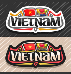 Logo for vietnam vector