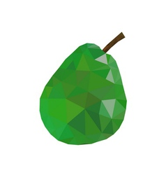 Low poly pear icon Green vector image