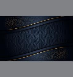 Luxurious dark background with gold glitter vector