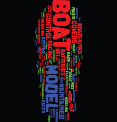 Model boat covers text background word cloud vector