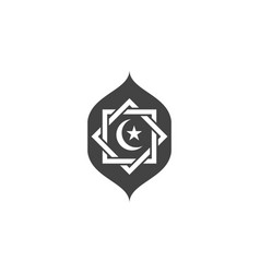 Moslem icon design vector