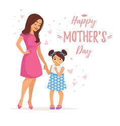 Mothers day greeting card template vector