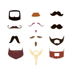 mustache silhouette isolated vector image