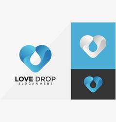 nature love drop logo design modern logo designs vector image