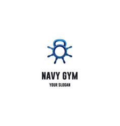 navy gym vector image