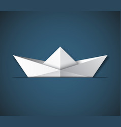 origami ship vector image