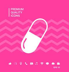 Pill symbol icon vector