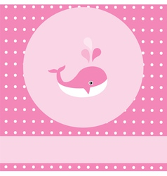 pink whale vector image
