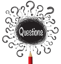 Question marks designs vector
