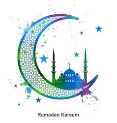 Ramadan kareem background in grunge style vector