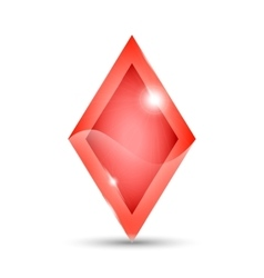 Red rhombus icon vector