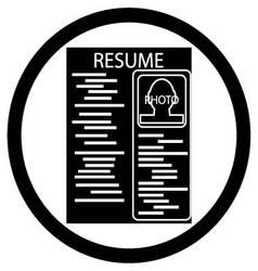 Resume black white icon vector image