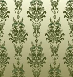 retro bird wallpaper vector image